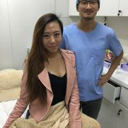 Dr Daniel Chang with Vanessa