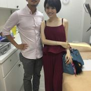 Dr Daniel Chang with Tanya